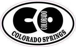 Oval CO Colorado Springs Sticker