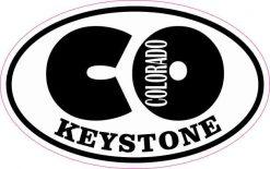 Oval CO Keystone Colorado Sticker