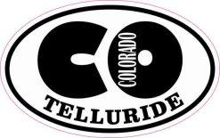Oval CO Telluride Colorado Sticker