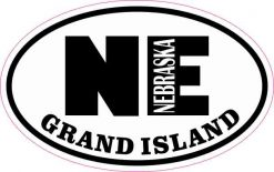Oval NE Grand Island Nebraska Sticker