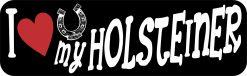 I Love My Holsteiner Bumper Sticker