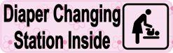 Pink Diaper Changing Station Sticker