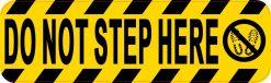 Symbol Do Not Step Here Magnet