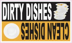 Orange Clean Dirty Dishes Magnet