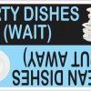 Blue Clean Dirty Dishes Magnet