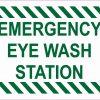 Emergency Eye Wash Station Sticker