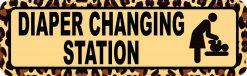 Leopard Print Diaper Changing Station Sticker
