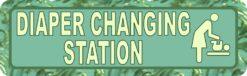 Vine Green Diaper Changing Station Sticker