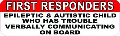 Epileptic and Autistic Child on Board Magnet