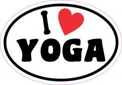 Oval I Love Yoga Sticker