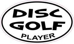 Oval Disc Golf Player Sticker