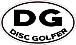 Oval DG Disc Golfer Sticker