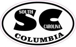 Oval SC Columbia South Carolina Sticker