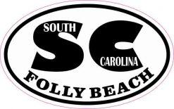 Oval SC Folly Beach Sticker