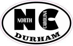 Oval NC Durham North Carolina Sticker