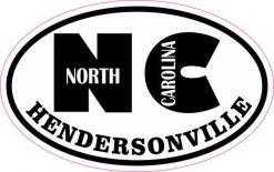 Oval NC Hendersonville Sticker
