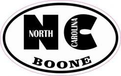 Oval NC Boone North Carolina Sticker