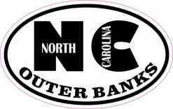 Oval NC Outer Banks Sticker