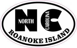 Oval NC Roanoke Island Sticker