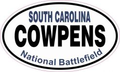 Oval Cowpens National Battlefield Sticker