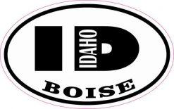 Oval ID Boise Idaho Sticker