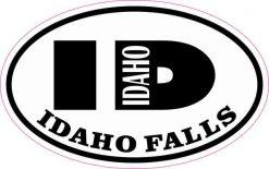 Oval ID Idaho Falls Sticker