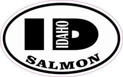 Oval ID Salmon Idaho Sticker
