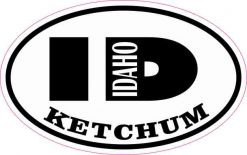 Oval ID Ketchum Idaho Sticker