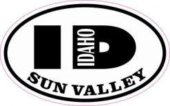 Oval ID Sun Valley Idaho Sticker