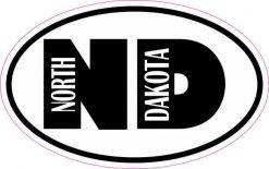Oval ND North Dakota Sticker