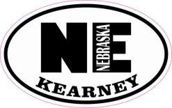 Oval NE Kearney Nebraska Sticker