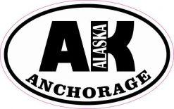 Oval AK Anchorage Alaska Sticker