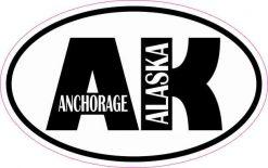 Oval Anchorage Alaska Sticker