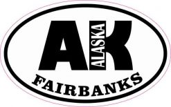Oval AK Fairbanks Alaska Sticker
