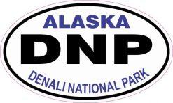 Oval Denali National Park Sticker