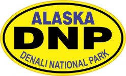 Yellow Oval Denali National Park Sticker