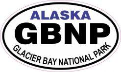 Oval Glacier Bay National Park Sticker