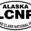 Oval Lake Clark National Park Sticker