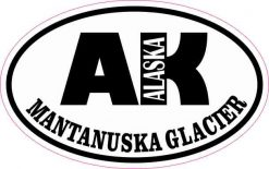 Oval AK Mantanuska Glacier Sticker