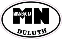 Oval Duluth Minnesota Sticker