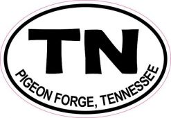 Oval Pigeon Forge Tennessee Sticker