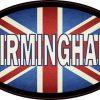 Oval UK Flag Birmingham Sticker
