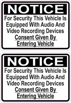 Audio and Video Recording Stickers