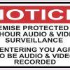 Audio and Video Surveillance Sticker