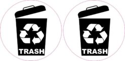 Recycling Trash Stickers