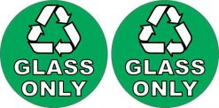 Recycling Glass Only Stickers