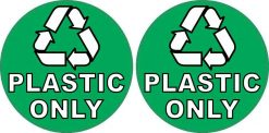 Recycling Plastic Only Stickers
