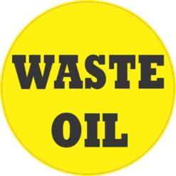 Waste Oil Sticker