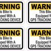 Bike GPS Tracking Stickers