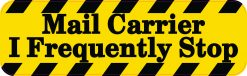 Mail Carrier Frequently Stop Bumper Sticker